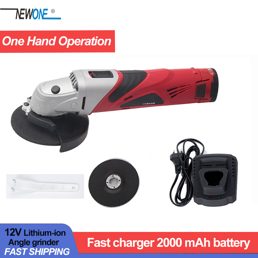 Hephaestus Angle Grinder with 12V Lithium Battery Angular Power Tool Grinding Metal Wood cordless Cutting and grinding Machine-in Grinders from Tools on