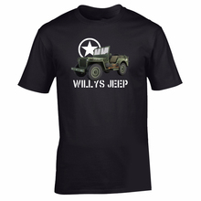 Hot Sale New MenS T Shirt Willys Jeep T-shirt Military Nostalgia WW2 D-day Historical Vehicle Allied WWII Funny O Neck