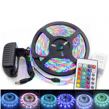 24-Key luces LED Strip light 12V SMD 2835 RGB lights 5M 10M 15M Waterproof lamp bar 5M/roll 60LEDs/M for Party Decoration lights