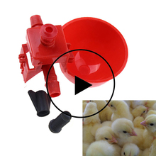 10/20/30PCS Chicken Waterer Hens Quail Birds Drinking Bowls Water For Chicken Coop Chick Nipple Drinkers Poultry Farm Animal