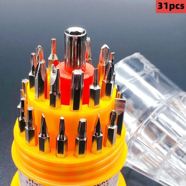 31pcs screwdriver screwdriver set mobile phone repair multifunctional hand tool precision instrument electronic DIY kit bit