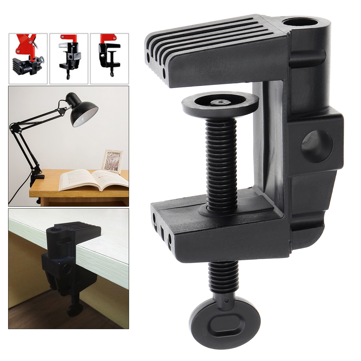 Bracket Clamp Accessories DIY Fixed Metal Clip Fittings Screw Light Mounting Camera Holder For Broadcast Microphone Desk Lamp
