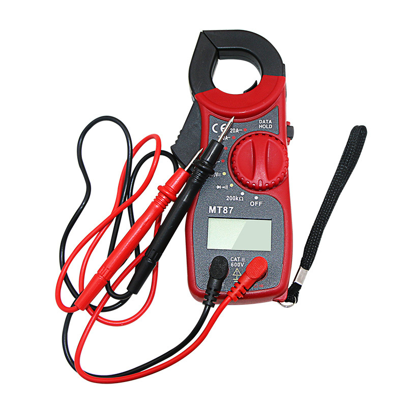 Digital Clamp Multimeter AC/DC Current Voltage Transistor Tester Power Meter  Clamp Meter Test Current Clamp
