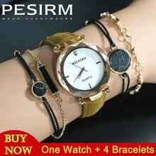 5PCS Starry Sky Bracelets Women Wirst Watch