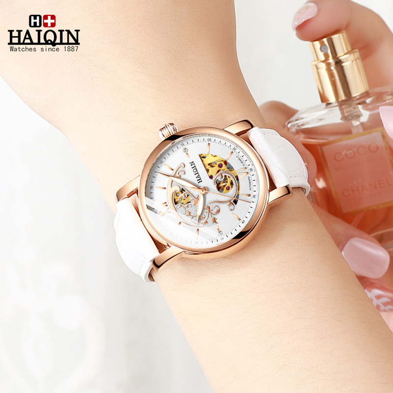 2019 New Women's Watches HAIQIN Mechanical Watches For Women Automatic Watch Women Luxury Fashion Ladies Watch Relogio Feminino