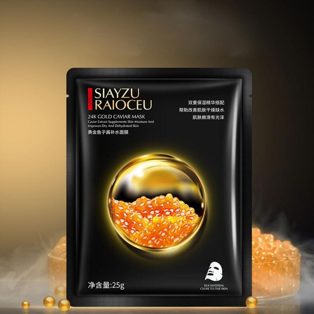 High Quality 10 Pcs Gold Caviar Hydrating Facial Mask Deep Moisturizing Easy to Absorb and Improve Skin Facial Care 4