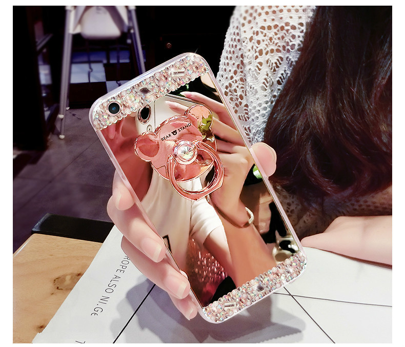 He2215579f3444f14a12d20a028219af3N Crystal Phone Case For iPhone 11 Pro Max Diamond Luxury Cover For iPhone 7 8 6 6s Plus Rhinestone Mirror For iPhone XS XR Xs Max