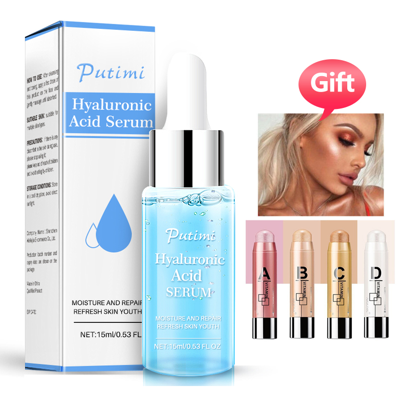 PUTIMI Hyaluronic Acid Essence Face Serum Anti Aging Moisturizing Whitening Shrink Pores Face Cream Nourishing Dry Skin Care in Serum from Beauty Health