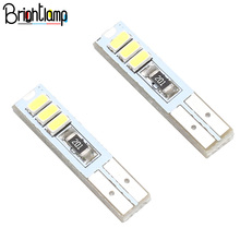 2Pcs T5 Instrument Panel Light Wedge Car Dashboard Indicator LED Warning