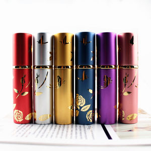 Image 5 - 1PC Top Quality Luxury 10ml Metal Perfume Bottle Aluminium Refillable Atomizer Portable Glass Spray Bottle Empty