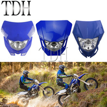 Universal Motorcycle Headlight Headlamp Motocross Enduro Dirt Bike Head Light Mask Fairing For Yamaha WRF250 400 450 YZ TTR WR