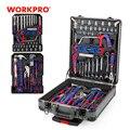 WORKPRO 111PC набор инструментов для тележки алюминиевый набор инструментов для дома