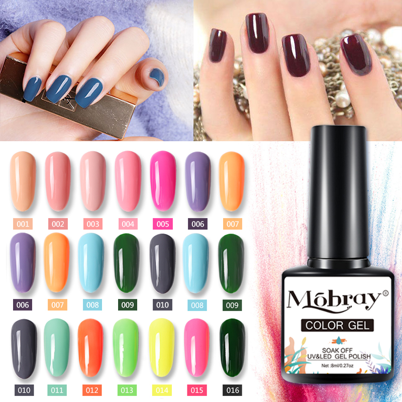 Mobray Гель-лак для ногтей 8 мл высококачественный Гель-лак для ногтей Полупостоянный Лак яркий цвет блестящий лак Гель-лак для ногтей