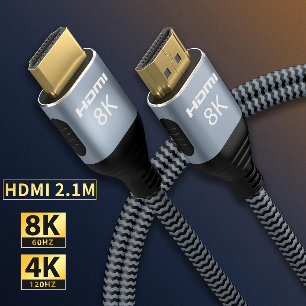 Кабель HDMI 4K 60 HZ/120 Гц hdmi высокого Скорость 8K 60 Гц/120 Гц UHD HDR 48 Гбит/с, кабель HDMI Ycbcr4:4:4 конвертер для PS4 HDTV проекторы