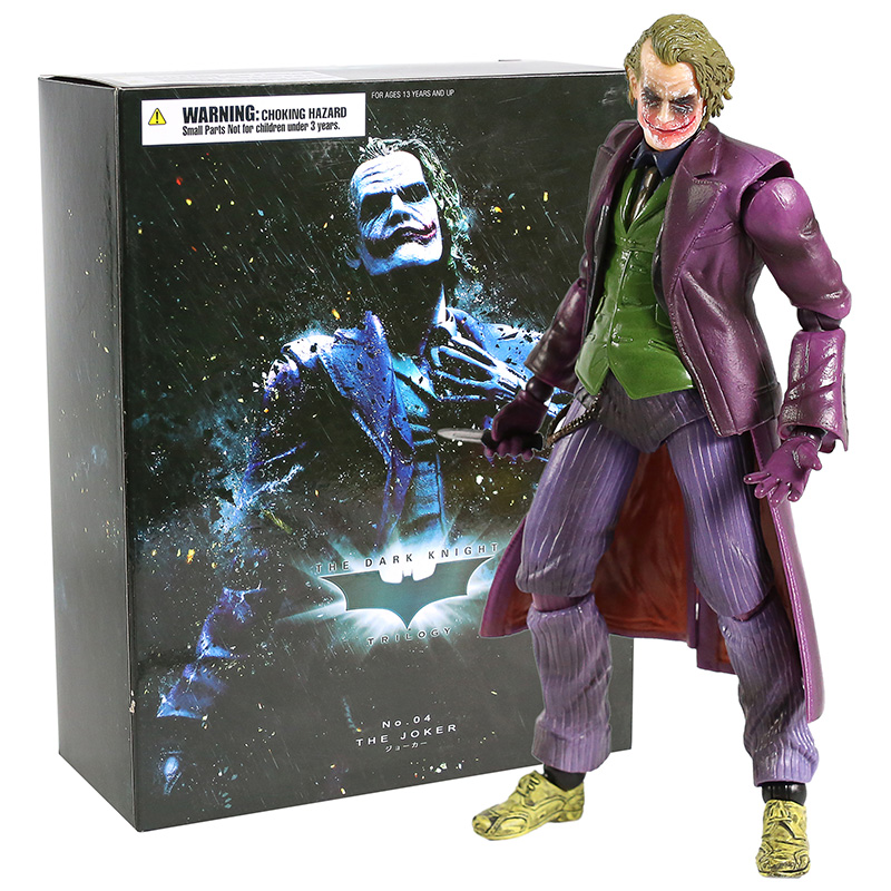 Play Arts KAI Batman Arkham Origins NO.4 The Joker PVC Action Figure The Dark Knight The Joker Collectible Model Toys Dolls