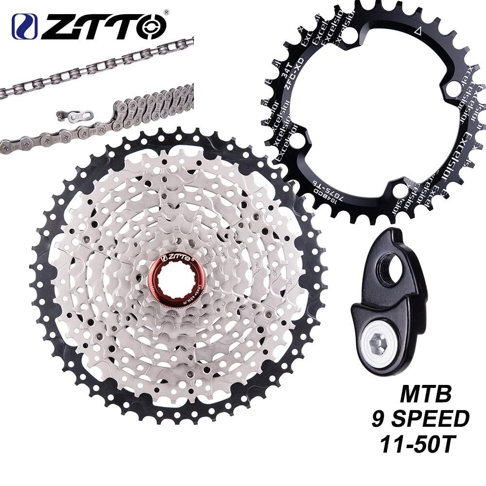 Кассета ZTTO MTB, 9 скоростей, 50t, кассета для горного велосипеда, 9 В, 11-50T, широкое соотношение, велосипед 9 S, свободный круг, совместим с M430, M4000, M590