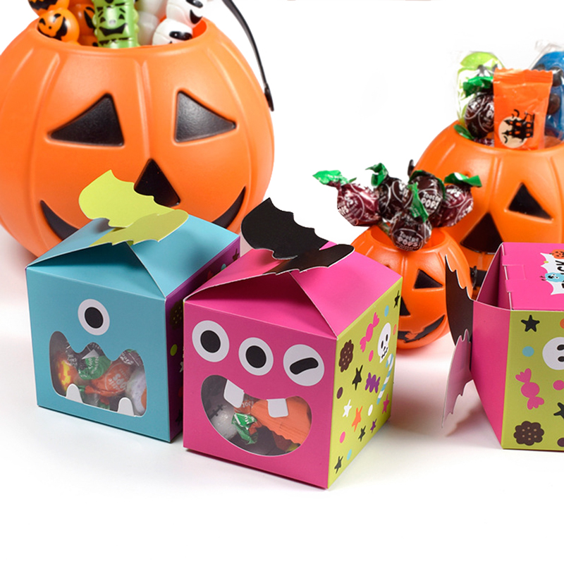 20pcs <font><b>Big</b></font> Mouth Monster Paper <font><b>Box</b></font> with Window for Halloween Event Party <font><b>Gift</b></font> <font><b>Box</b></font> Candy Boxes Favors <font><b>Packaging</b></font> <font><b>Box</b></font> Trick or Treat image