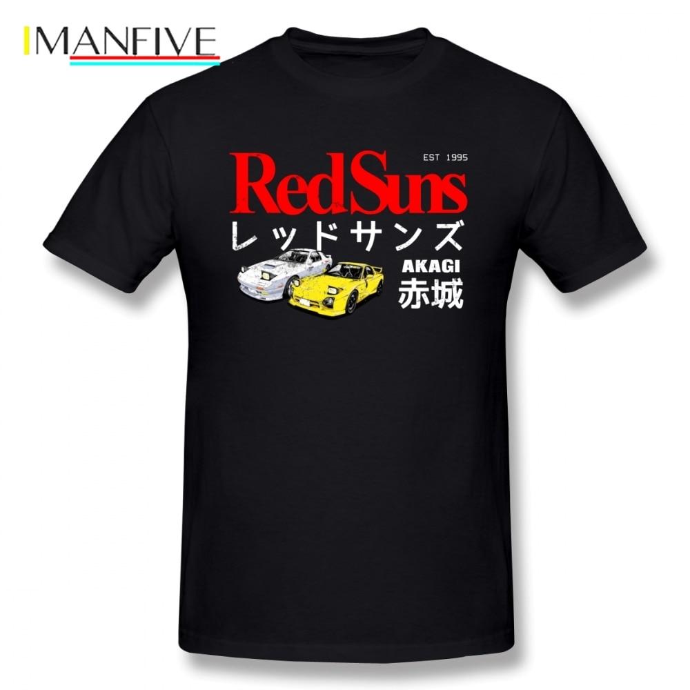 Initial D Comics AE86 Men T Shirt Top Camiseta Oversize Cotton Crewneck Short Sleeve Mens Clothes