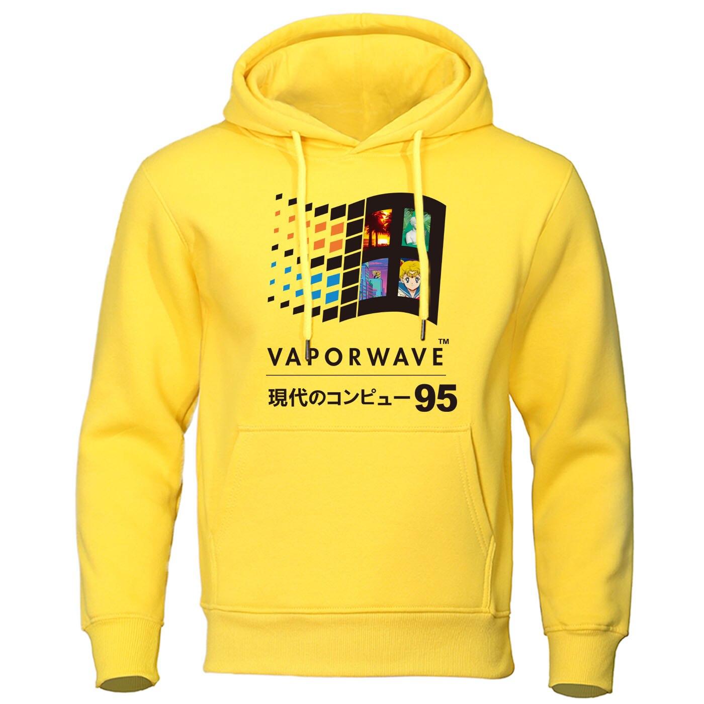 Japanese Anime Pullover Harajuku Streetwear Aesthetic Vaporwave Vintage Retro Men Hoodies Sweatshirt Mens Casual Hip Hop Hoody