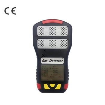 CE ATEX Handheld Portable multiple 6 in 1 gas detector LEL CO H2S O2 CO2 NH3 gas analyzer riot control oxygen gas analyzer o2 concentration measuring instrument detector tester smartsensor w sound