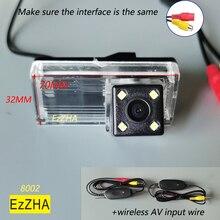 EzZHA HD ย้อนกลับด้านหลังกล้อง4 8 12 LED สำหรับ Toyota Reiz Land Cruiser Prado 120 LC100 LC200รถที่จอดรถกันน้ำ