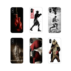 Muay Thai Fight Boxing Silicone Phone Shell Case For Huawei G7 G8 P7 P8 P9 P10 P20 P30 Lite Mini Pro P Smart Plus 2017 2018 2019(China)