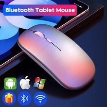 Aieach bluetooth mouse para ipad samsung huawei lenovo android windows tablet recarregável sem fio mouse para computador macbook