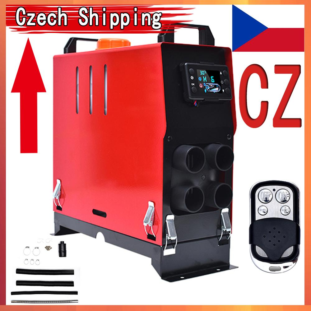 Aquecedor de ar diesel 12v 5kw veículo conjunto aquecedor para carro caminhão barco monitor interruptor controle remoto silenciador motorhome carro accessorie