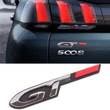2 uds bien 3D estilo de coche pegatina Gt para Peugeot de moda Puerta de coche pegatina