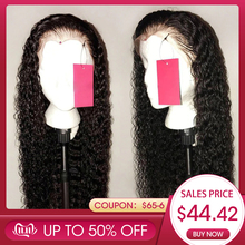 Human-Hair-Wig Sassy Curly Bleached Knots Lace-Front Glueless Women Brazilian Plucked