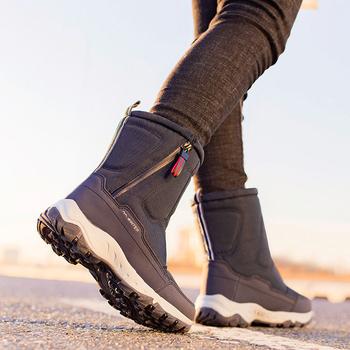 Buty damskie 2020 buty zimowe ciepłe pluszowe buty śniegowe damskie wodoodporne antypoślizgowe buty zimowe damskie zip windproof rozmiar butów 36-41 tanie i dobre opinie verktaka CN (pochodzenie) Syntetyczny Połowy łydki zipper Stałe women boots winter Dla dorosłych Mieszkanie z Buty śniegu