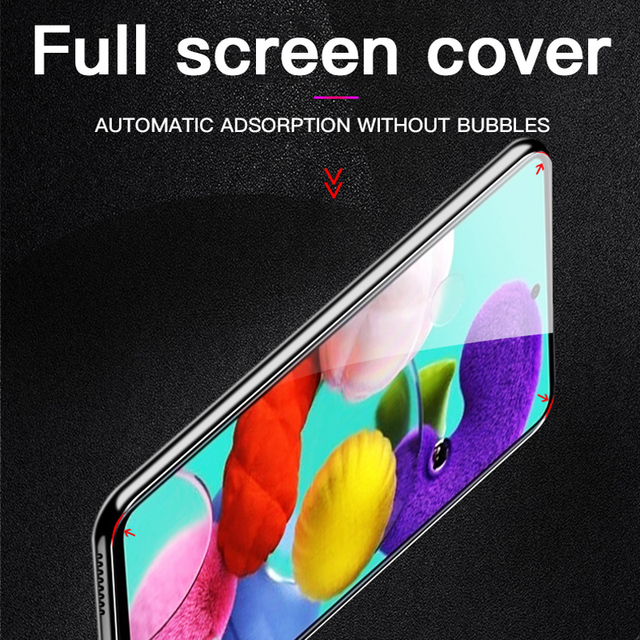 Tempered Glass On The For Samsung Galaxy A51 A41 A31 A21 A11 A01 A71 A81 A91 Screen Protector Film For Samsung S6 S7 A71 Glass