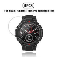 Accesorios de protección para reloj inteligente Huami Amazfit-t-rex Pro, película protectora frontal Hd de vidrio templado