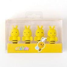 4 шт kawaii Мёд пчелы милые резинки Мини ластик стирательная
