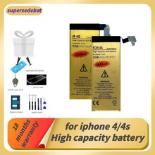 Supersedeba para iphone 4S bateria 0 ciclo batterie 4 para apple iphone 4 4S bateria de reparação fazer telefone baterias