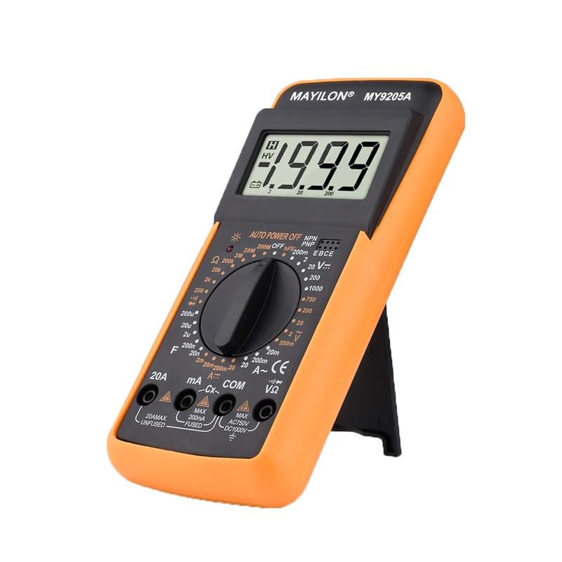 Профессиональный цифровой мультиметр MY9205A ручной диапазон истинного среднеквадратичного значения переменного тока постоянного тока Амперметр Вольтметр транзистор тестер для инструментов электрика|Мультиметры|   | АлиЭкспресс