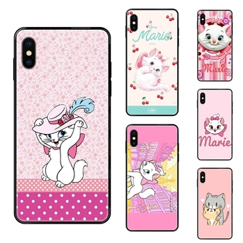 Black Soft TPU Phone Cover Case Capa Marie Aristocats Pretty For Galaxy Note 4 8 9 10 20 Plus Pro J6 J7 J8 M30s M80s Ultra 2016 image