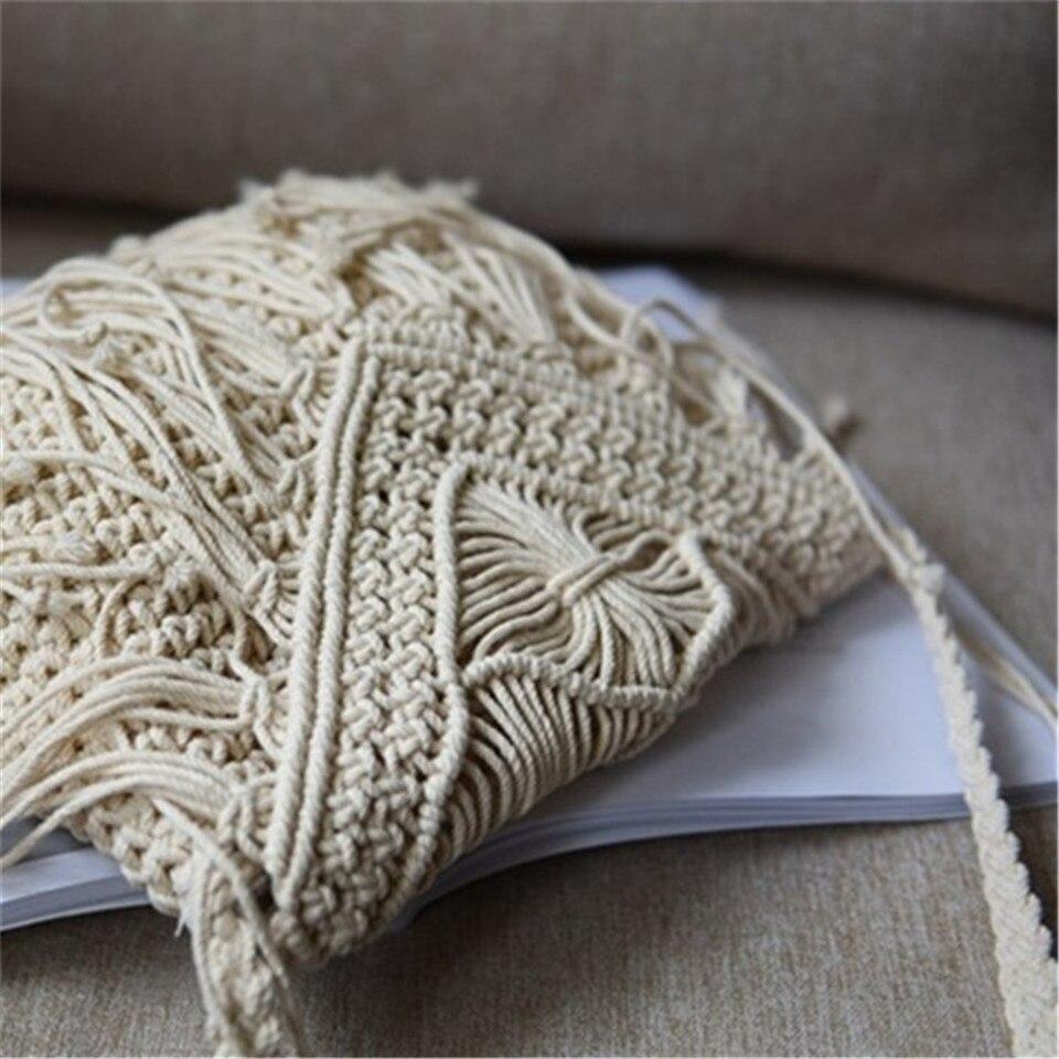 algodão bolsas femininas malha moda ombro sacos de praia