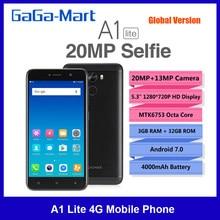 Globale Version Gionee A1 Lite 5,3 Zoll 4G Handy 20MP + 13MP Kamera 3GB + 32GB 4000mAh Octa Core Fingerprint Entsperren Smartphone