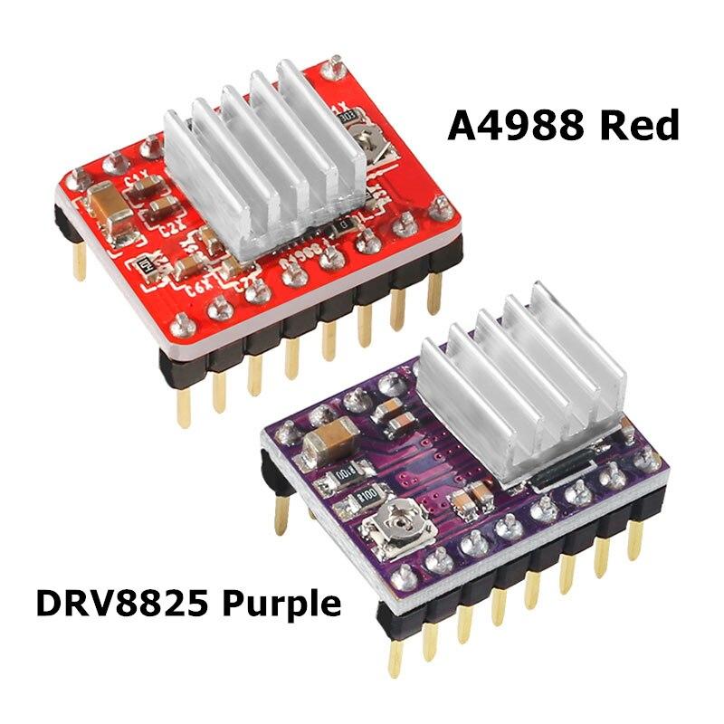 DRV8825 A4988 Stepper Motor Driver With Heatsink 3D Printer Parts Step Stick Carrier Reprap RAMPS 1.
