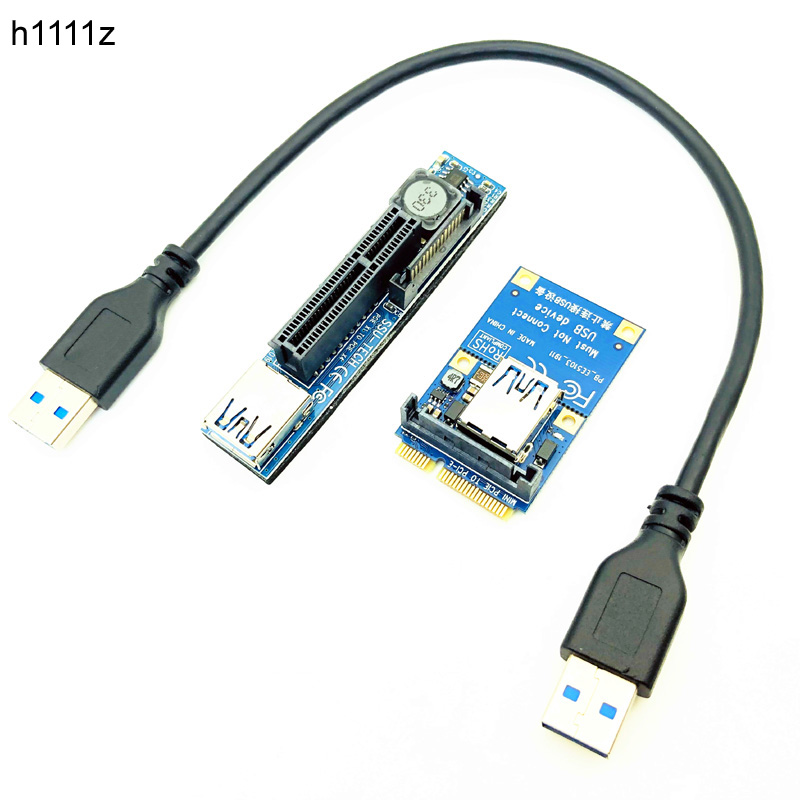 PCI-E Riser Mini PCIE To PCIE X4 Extension Port Adapter Riser Card PC Graphics Card Connector 30cm USB Cable PCIE Extender Riser