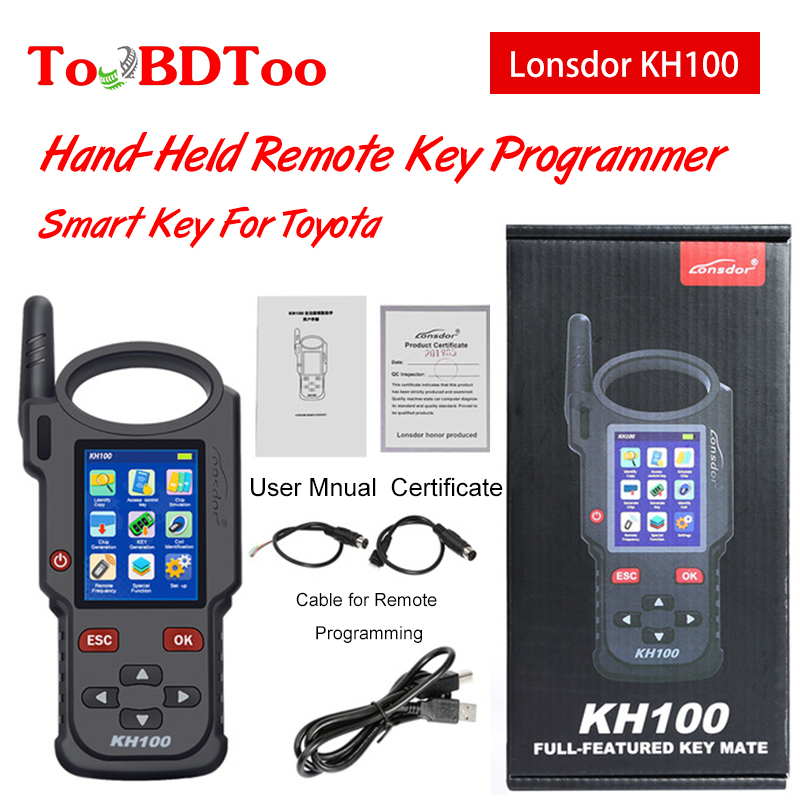 Original Lonsdor KH100 Hand-Held Remote Key Programmer Generator Detect IMMO Unlock Smart Key For Toyota
