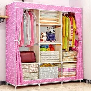 Image 5 - Armario de tela COSTWAY para ropa tela plegable armario portátil armario de almacenamiento dormitorio muebles para el hogar armario ropero muebles