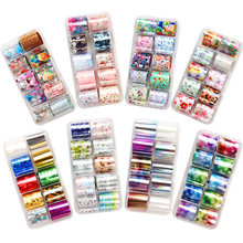 Cyshmily 2.5*100Cm Holografische Nail Art Transfer Folie Sticker Starry Ab Papier Wraps Adhesive Decals Nagels Decoratie Accessoires(China)