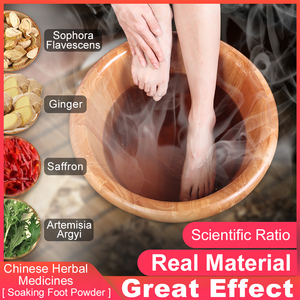 Cofoe 30packs/box Foot Bath Powder Chinese Herbal Moxa Leaves Feet Massage Detox Dehumidification Alleviate Dysmenorrhea Fatigue