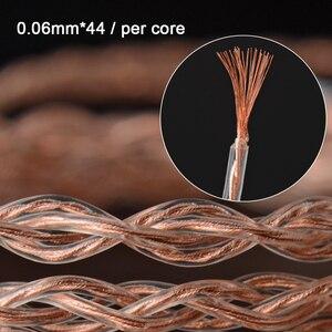 Image 3 - Nicehck 6n upocc cobre + cobre prata liga mista cabo litz 3.5/2.5/4.4 mmcx/0.78mm 2pin/dqc 2pin para mk3 moondrop qdc tanchjim