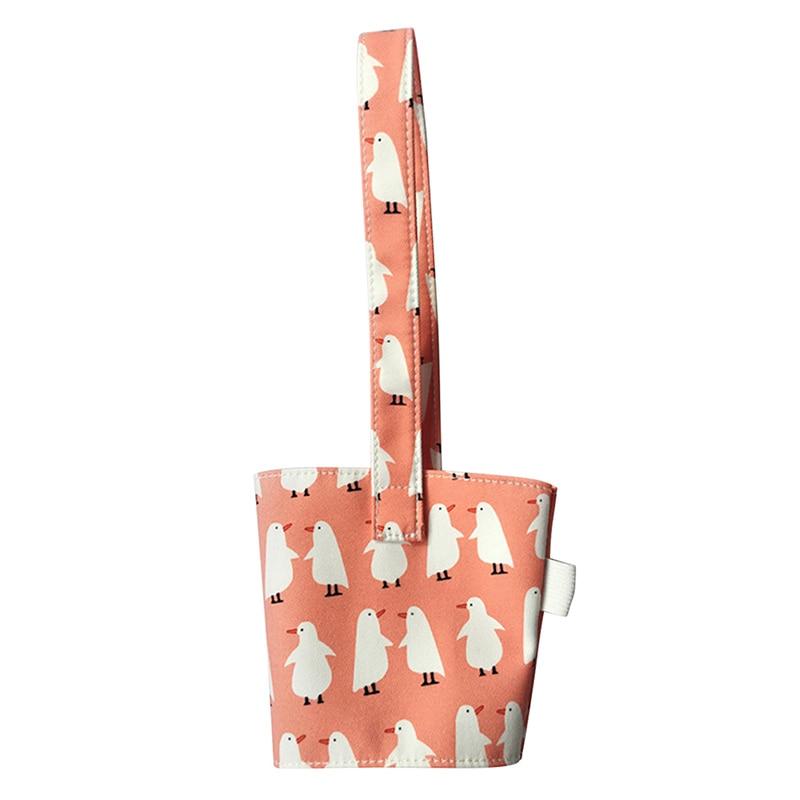 Портативная Сумка-переноска из чистого хлопка скатерть стаканчик Крышка для молока чай сок прекрасный без запаха маленькая подарочная сумочка бутылочные крышки Держатели