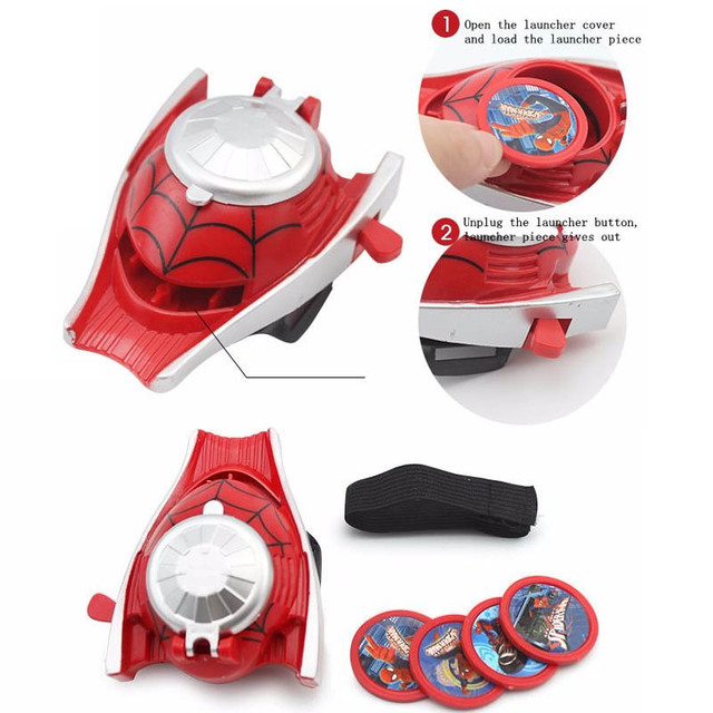 5 Styles PVC 24cm Batman Glove Spiderman Launcher Cosplay Toys 2