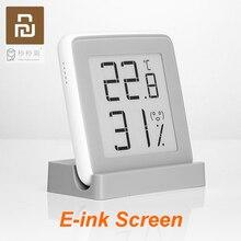 100% Youpin MiaoMiaoCe E Link حبر شاشة عرض مقياس الرطوبة الرقمية عالية الدقة ميزان الحرارة مستشعر درجة الحرارة والرطوبة
