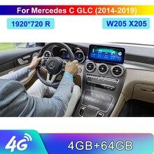 10.25 אינץ 4 + 64G רכב 10.25 אינץ תצוגת לנץ GLC X253 C253 C Class W205 2016 2019 פיקוד מערכת שדרוג ראש עד מסך